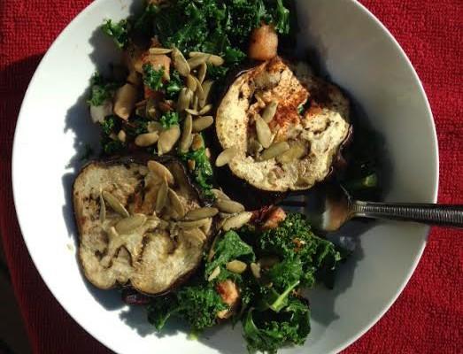 Eggplant Apple & Kale Salad Recipe