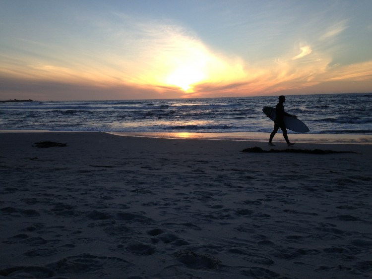Asilomar Beach Sunset Surfer