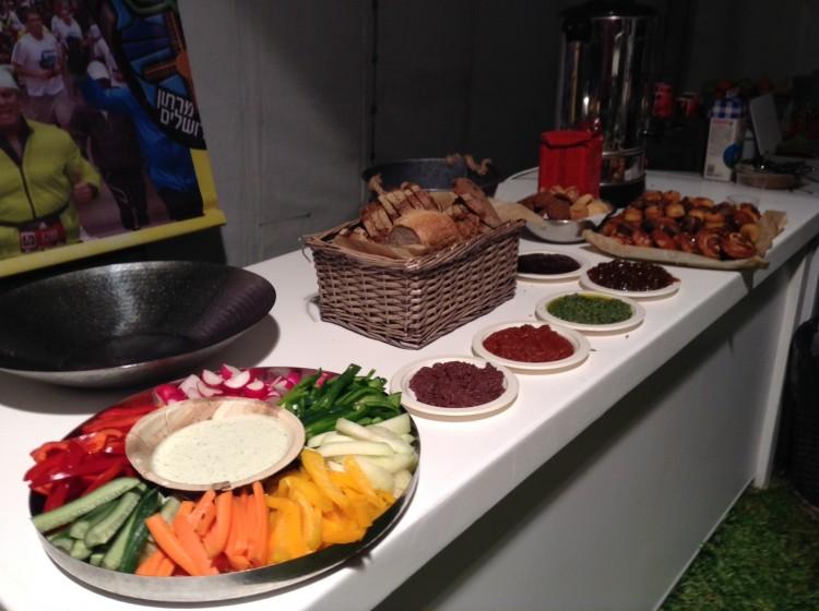 Jerusalem Marathon Press Tent Food_DOTR