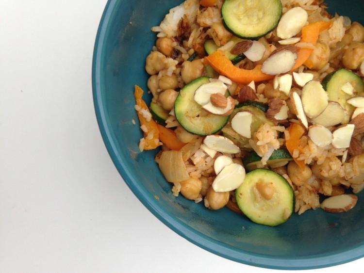Vegan Fried Rice Bowl | Dietitian on the Run