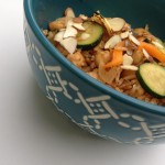 Vegan Fried Rice & Zucchini Bowl | Dietitian on the Run