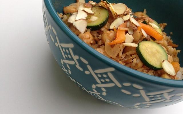 Vegan Fried Rice & Zucchini Bowl