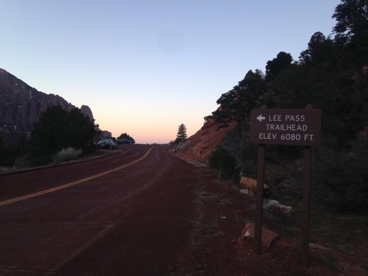Lee Pass Trailhead_Zion_DOTR