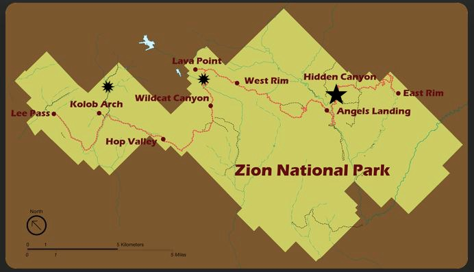 Zion National Park Map_DOTR_ZA
