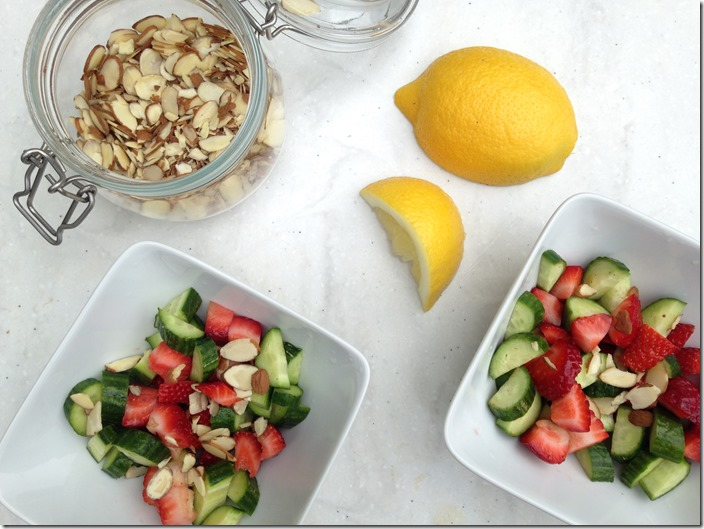 Summer strawberry salad with fresh lemon juice | Dietitian on the Run