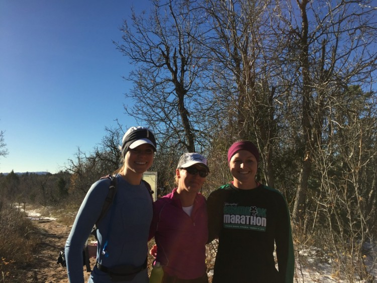 Girls Start West Rim Trailhead Zion Run