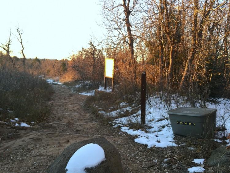 West Rim Trailhead Aid Box