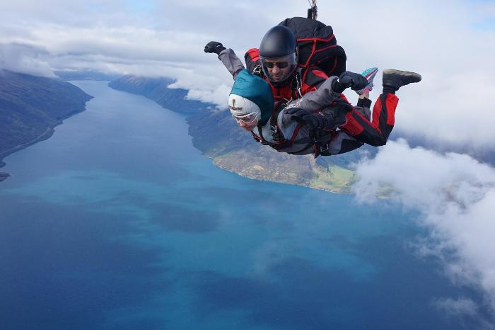 View from skydiving in Queenstown