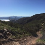 Trail running in Marin Headlands