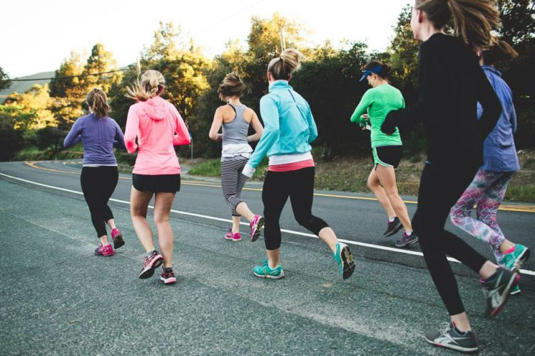 women running group