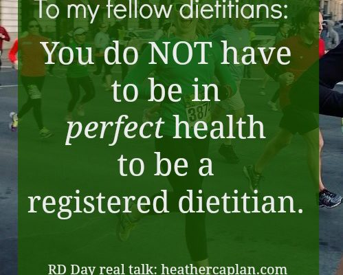 Dietitian and Women's Day Declaration: We are not perfect, and we don't have to be
