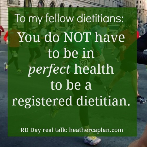 A dietitian's health is not perfect