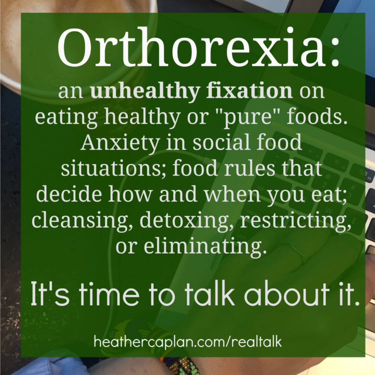 Orthorexia eating disorder