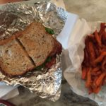 Lunch sandwich and fries