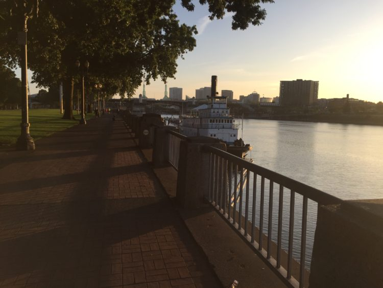 running portland morning