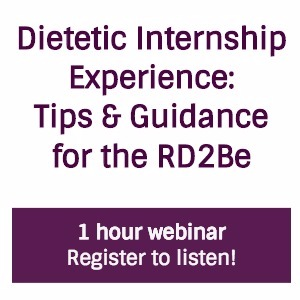 Dietetic Internship Event Logo