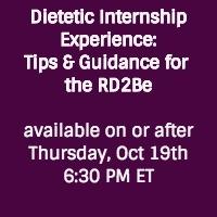 Dietetic Internship Experience Event