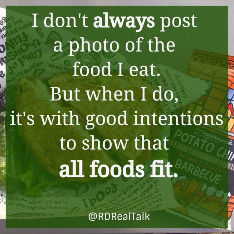 Intuitive eating and instagram food photos