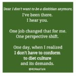 Don't want to be a dietitian