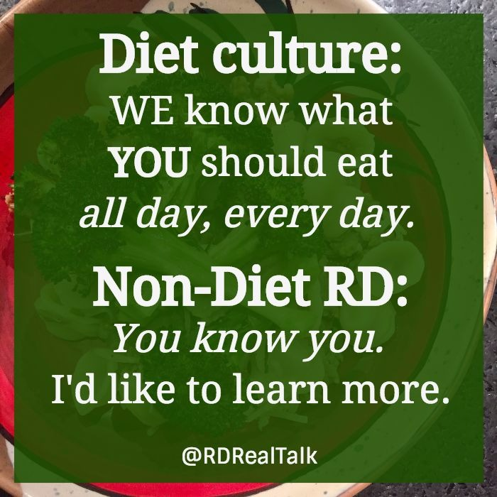diet culture says what you should eat