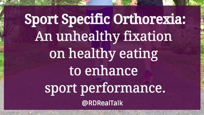 Real Talk: I think Sport Specific Orthorexia is a thing